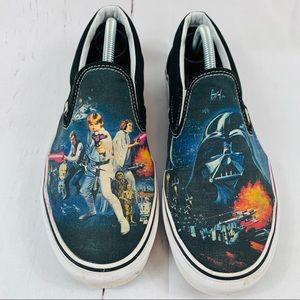 Men's Star Wars themed vans slip on shoes 10.5